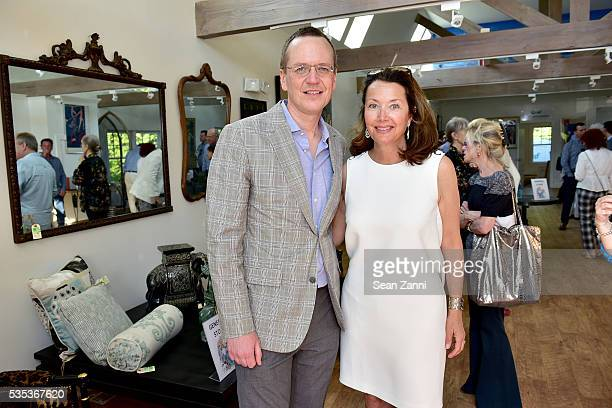 Scott Howe and Lisa McCarthy attend Animal Rescue Fund of the Hamptons 6th Annual Thrift Shop Designer Showhouse at ARF Thrift Treasure Shop on May...