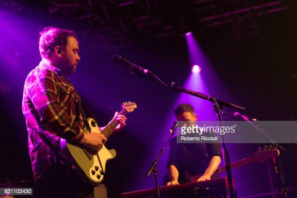 Scott Hutchison and Billy Kennedy of Frightened Rabbit perform on stage at The Liquid Room on March 12 2018 in Edinburgh Scotland