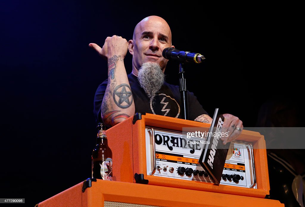 Scott Ian of Anthrax presents at the Metal Hammer Golden Gods awards on June 15, 2015 in London, England.