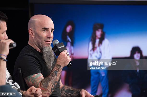 Scott Ian of the thrash metal band Anthrax attends AOL Build Speaker Series at AOL Studios In New York on January 13 2016 in New York City