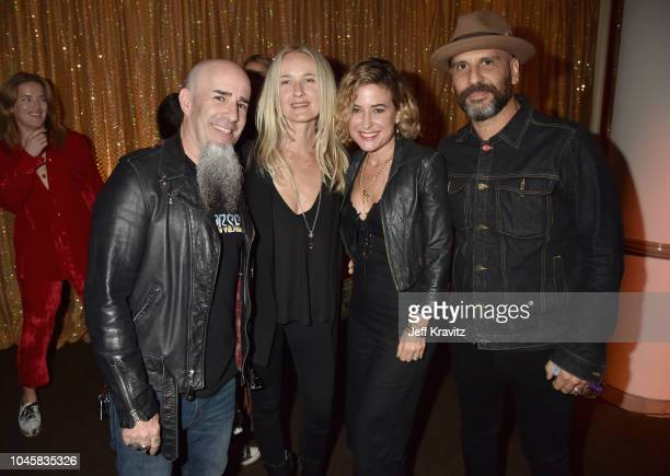 Scott Ian Pearl Aday Christine Kushner and Dave Kushner attend Los Angeles Premiere Of HBO Films MY DINNER WITH HERVE at Paramount Studios on October...