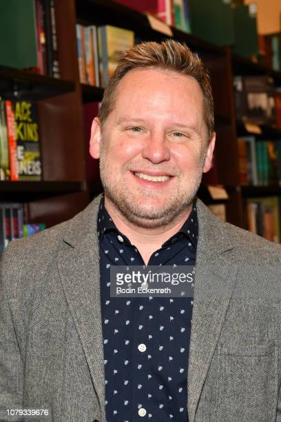 "Scott Icenogle poses for portrait at his new children's book signing of ""Plum"" at Barnes & Noble at The Grove on December 08, 2018 in Los Angeles,..."
