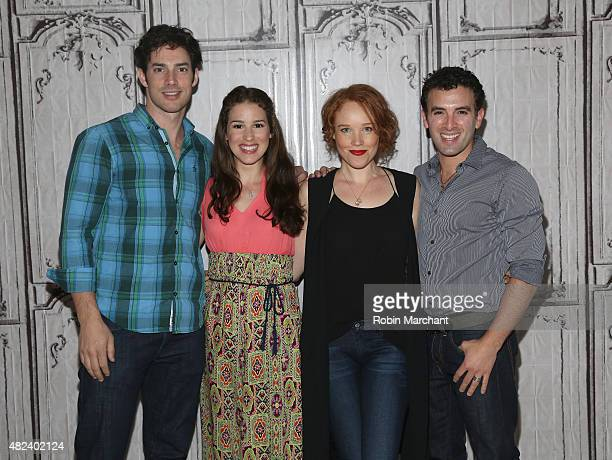 Scott J Campbell Chilina Kennedy Jessica Keenan Wynn and Jarrod Spector attend AOL BUILD Speaker Series Presents Broadway's Beautiful The Carole King...