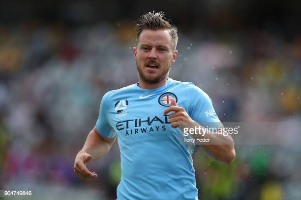 Scott Jamieson of City during the round 16 ALeague match between the Central Coast Mariners and Melbourne City at Central Coast Stadium on January 14...