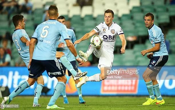 Scott Jamieson of Perth controls the ball during the round 10 ALeague match between Sydney FC and Perth Glory at Allianz Stadium on December 4 2014...