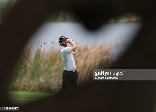 Scott Jamieson of Scotland plays his approach shot on the eigth hole during Day One of the South African Open at Gary Player CC on December 03, 2020...