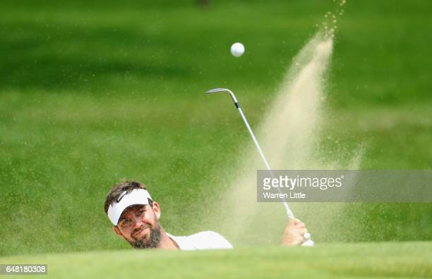 Scott Jamieson of Scotland plays out of second greenside bunker during the final round of the Tshwane Open at Pretoria Country Club on March 5 2017...