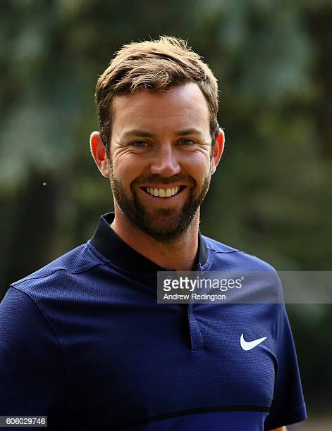 Scott Jamieson of Scotland smiles as he walks off the 18th hole during day two of the Italian Open at Golf Club Milano Parco Reale di Monza on...