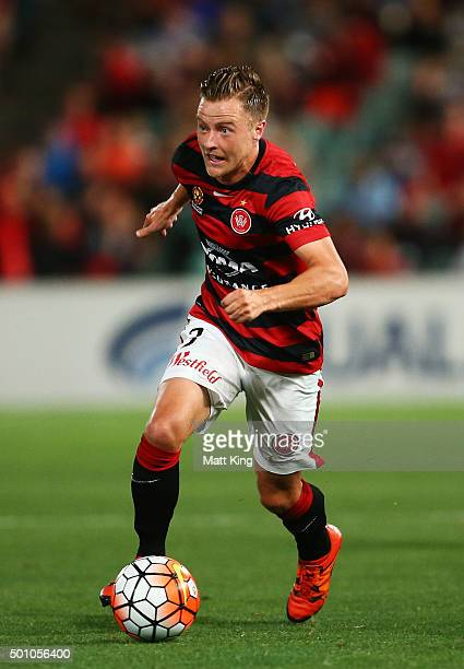 Scott Jamieson of the Wanderers controls the ball during the round 10 ALeague match between the Western Sydney Wanderers and Melbourne Victory at...