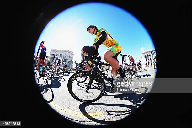 Scott Jarold of Auckland makes his way to Lumsden during stage 5 of the Tour of Southland on November 7 2014 in Invercargill New Zealand