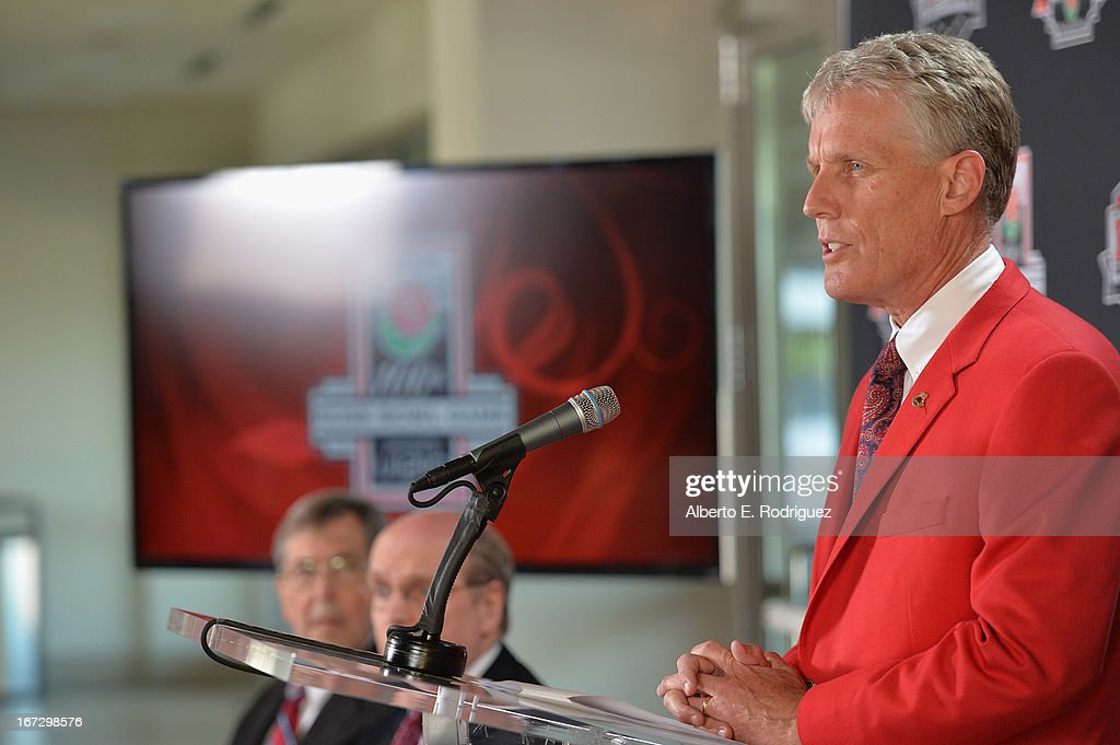 Scott Jenkins, President, Tournament of Roses attends the 100th Rose Bowl Game press conference at Rose Bowl on April 23, 2013 in Pasadena, California.
