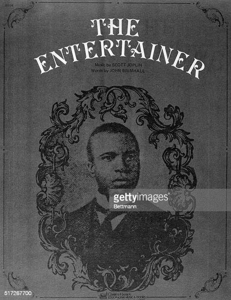 Scott Joplin Ragtime composer is seen here in an illustration