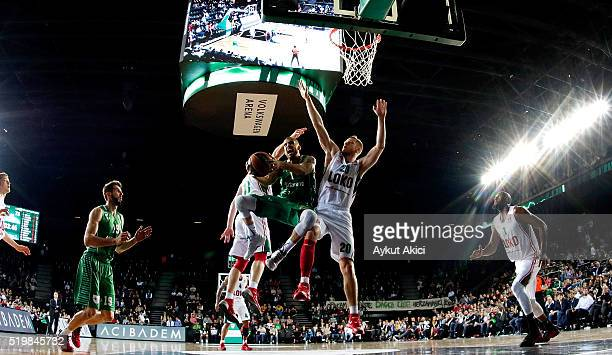 Scott Jordan Wilbekin #1 of Darussafaka Dogus Istanbul in action during the 20152016 Turkish Airlines Euroleague Basketball Top 16 Round 14 game...