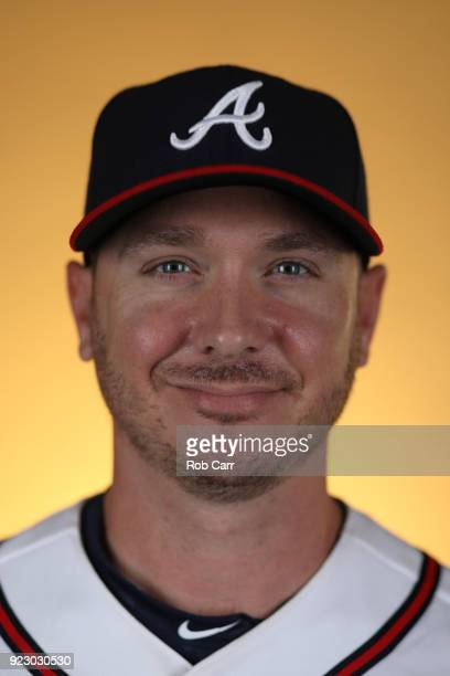 Scott Kazmir of the Atlanta Braves poses for a photo during photo days at Champion Stadium on February 22 2018 in Lake Buena Vista Florida