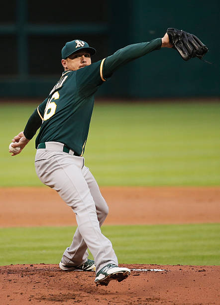 Scott Kazmir of the Oakland Athletics