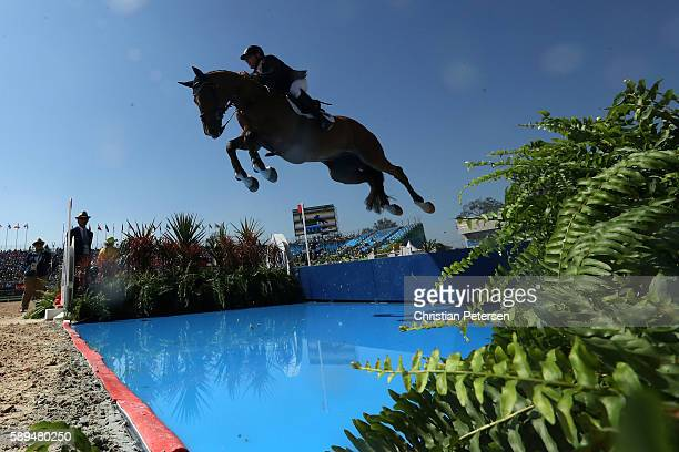 Scott Keach of Australia riding Fedor competes during the Jumping Individual and Team Qualifier on Day 9 of the Rio 2016 Olympic Games at the Olympic...