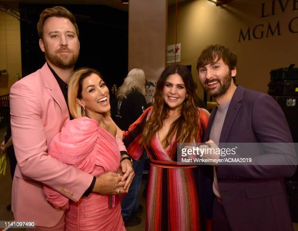 Scott Kelley Cassie McConnell Hillary Scott and Dave Haywood attend the 54th Academy Of Country Music Awards at MGM Grand Garden Arena on April 07...