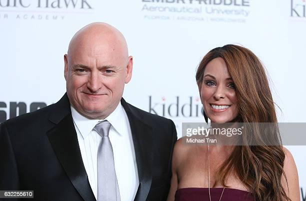 Scott Kelly and Amiko Kauderer arrive at the 14th Annual Living Legends of Aviation Awards held at The Beverly Hilton Hotel on January 20 2017 in...