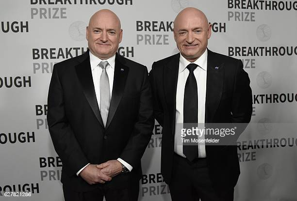 Scott Kelly and Mark Kelly attend the 5th Annual Breakthrough Prize Ceremony at NASA Ames Research Center on December 4 2016 in Mountain View...