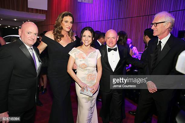 Scott Kelly Caitlyn Jenner Julia LouisDreyfus and Mark Kelly attend 2016 Time 100 Gala Time's Most Influential People In The World Cocktails at Jazz...