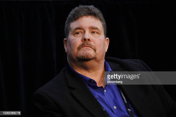 Scott Kelly chief executive officer of Black Dog Venture Partners LLC listens during the Mobile World Congress Americas event in Los Angeles...