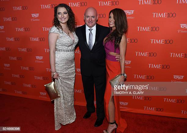 Scott Kelly Samantha Kell and Amiko Kauderer attend the Time 100 Gala celebrating the Time 100 issue of the Most Influential People at The World at...