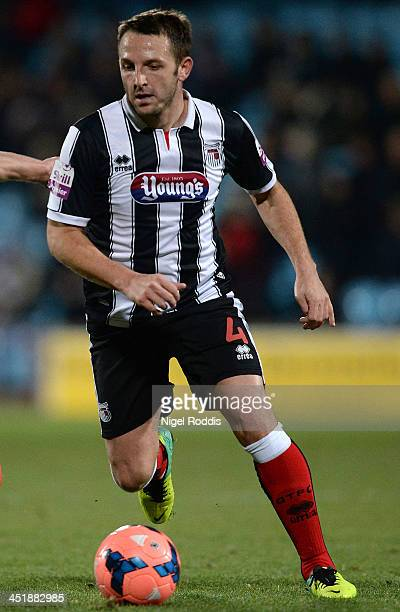 Scott Kerr of Grimsby Town during their FA Cup First Round Replay against Scunthorpe United at Glanford Park on November 19 2013 in Scunthorpe England