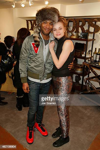 Scott Kid Cudi Mescudi and Makenzie Leigh attend The Variety Studio At Sundance Presented By Dockers Day 1 on January 24 2015 in Park City Utah