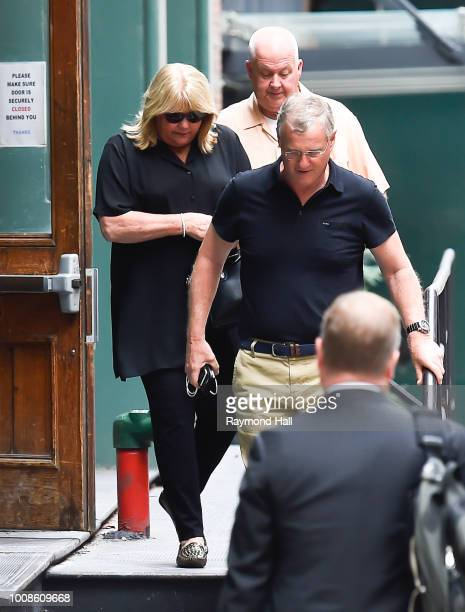Scott Kingsley Swift and Andrea Swift are seen walking in Tribeca on July 31 2018 in New York City