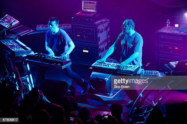 Scott Kirkland and Ken Jordan of The Crystal Method performs at the House of Blues on May 17 2009 in New Orleans Louisiana