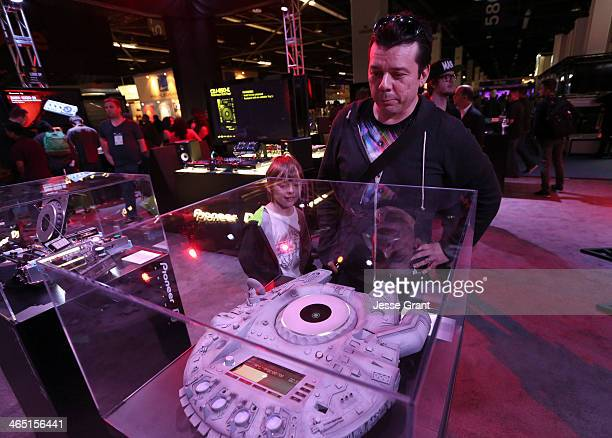 Scott Kirkland of the Crystal Method attends the 2014 National Association of Music Merchants show at the Anaheim Convention Center on January 25...
