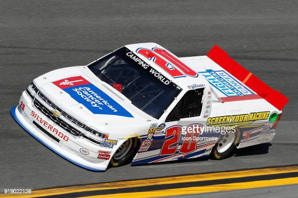 Scott Lagasse Jr Young's Motorsports Chevrolet Silverado during practice for the NextEra Energy Resources 250 NASCAR Camping World Truck Series race...