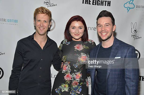 Scott Levenson Anastasia Baranova and Jordan Yale Levine attend the KING COBRA Cast Dinner Hosted By Yale Productions And Digital Ignition...