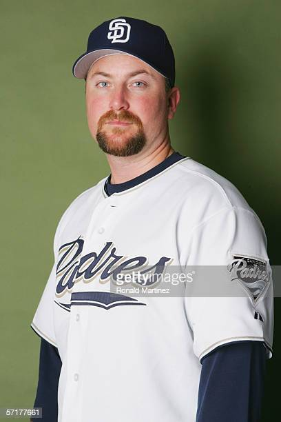 Scott Linebrink poses for a portrait during the San Diego Padres Photo Day at Peoria Stadium on February 26 2006 in Peoria Arizona