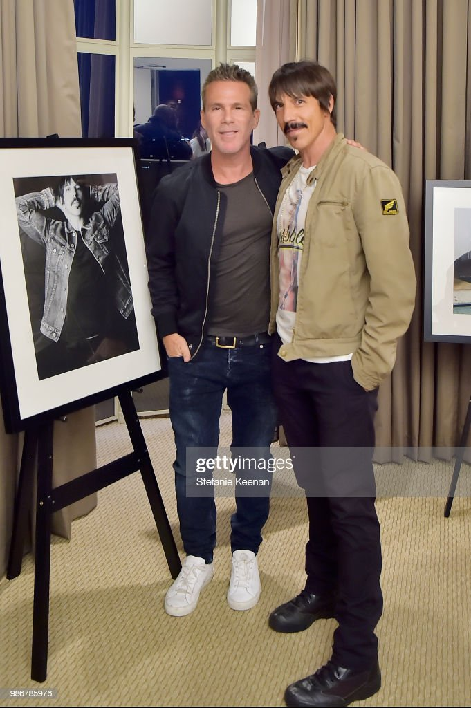 Scott Lipps (L) and Anthony Kiedis attend Diesel Presents Scott Lipps Photography Exhibition 'Rocks Not Dead' at Sunset Tower on June 28, 2018 in Los Angeles, California.