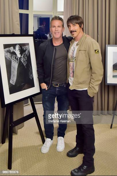 Scott Lipps and Anthony Kiedis attend Diesel Presents Scott Lipps Photography Exhibition 'Rocks Not Dead' at Sunset Tower on June 28 2018 in Los...