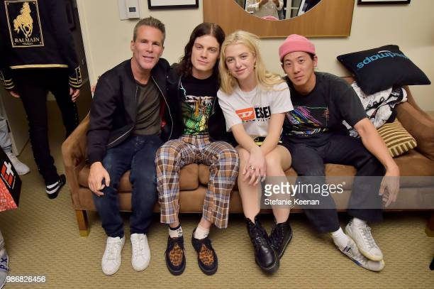 Scott Lipps Borns Anais Gallagher and guest attend Diesel Presents Scott Lipps Photography Exhibition 'Rocks Not Dead' at Sunset Tower on June 28...