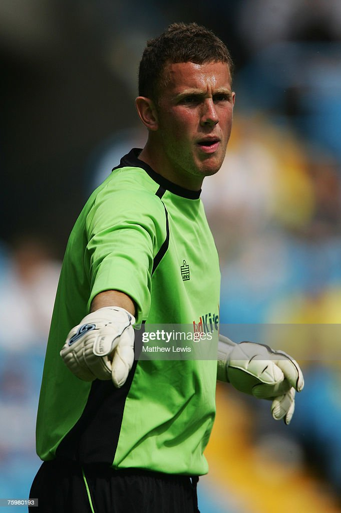 Scott Loach of Leeds United in action during the Pre-Season Friendly match between Leeds United and Wigan Athletic at Elland Road, on August 04, 2007 in Leeds, England.