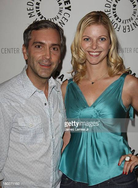 Scott Lowell and Hilary Barraford attend the season two premiere host panel event for the online series Husbands held at The Paley Center for Media...