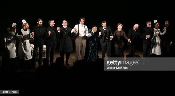 Scott Lowell Anthony Heald Bradley Cooper Patricia Clarkson Alessandro Nivola Kathryn Meisle Henry Stram and cast during the Curtain Call for the...
