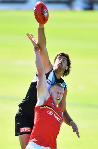 AUS: AFL Practice Match - Port Adelaide v Adelaide