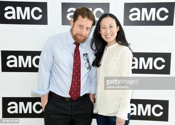 Scott M Gimple and Angela Kang attend the AMC Summit at Public Hotel on June 20 2018 in New York City
