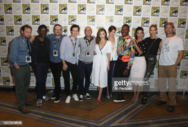 Scott M Gimple Lennie James Ian Goldberg Andrew Chambliss guest Alycia DebnamCarey Maggie Grace Colman Domingo Danay Garcia Jenna Elfman and Garret...