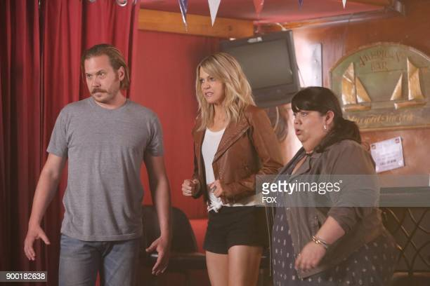 Scott MacArthur Kaitlin Olson and Carla Jimenez in the new The Homecoming episode of THE MICK airing Tuesday Nov 14 on FOX