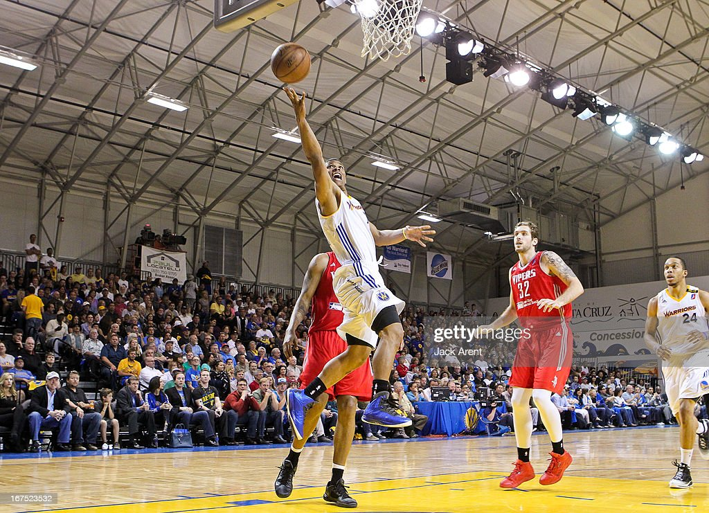 Scott Machado #7 of the Santa Cruz Warriors shoots a layup against the Rio Grande Valley Vipers during Game One of the D-League Championship on April 25, 2013 at Kaiser Permanente Arena in Santa Cruz, California.