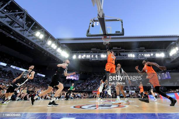 Scott Machado of the Taipans drives to the basket during the round 13 NBL match between Melbourne United and the Cairns Taipans at Melbourne Arena on...