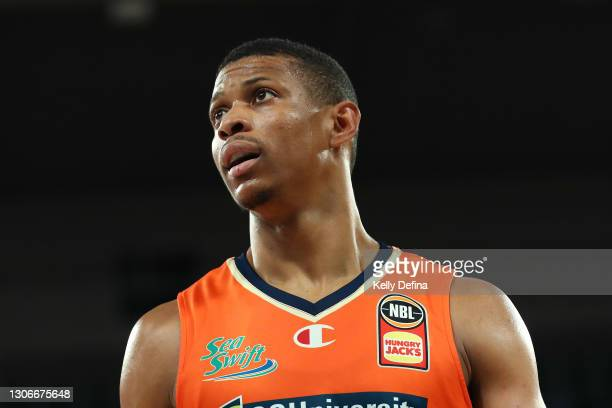 Scott Machado of the Taipans looks on during the NBL Cup match between the Cairns Taipans and the South East Melbourne Phoenix at John Cain Arena on...
