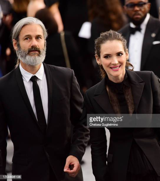 Scott Mackinlay Hahn and Winona Ryder attend the 26th annual Screen Actors Guild Awards at The Shrine Auditorium on January 19 2020 in Los Angeles...