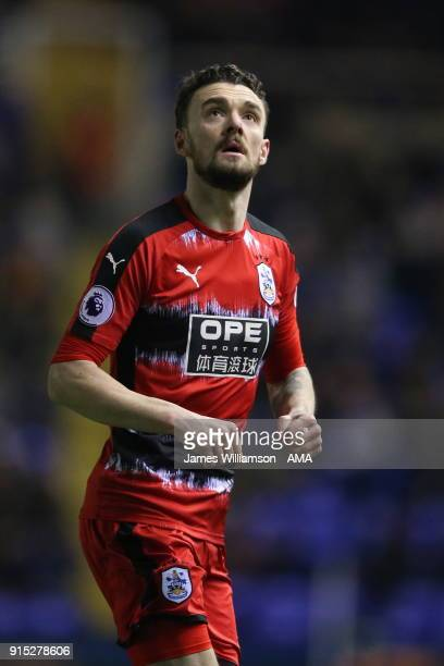 Scott Malone of Huddersfield Town during The Emirates FA Cup Fourth Round Replay at St Andrews on February 6, 2018 in Birmingham, England.