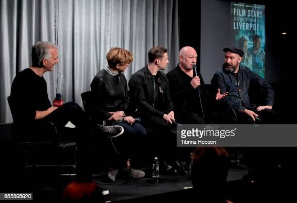Scott Mantz Annette Bening Jamie Bell Peter Turner and Paul McGuigan attend SAGAFTRA Foundation's conversation and screening of 'Film Stars Don't Die...